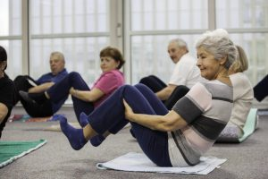 Aerobics class in rehabilitation facility